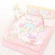 享夢城堡 精梳棉雙人床包涼被四件組-雙星仙子Little Twin Stars 小熊扮家家-粉 product thumbnail 1