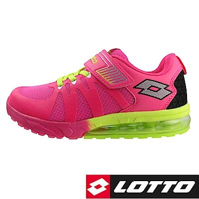 LOTTO 義大利 童  氣墊跑鞋 (粉紅)