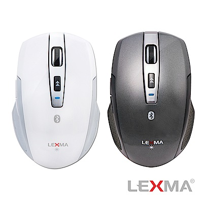 LEXMA B600R-GY無線2.4G藍牙滑鼠-灰色