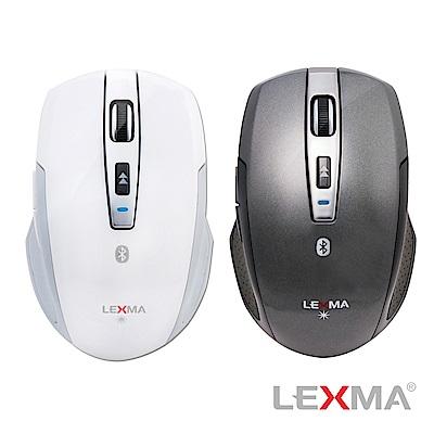 LEXMA B600R-GY無線2.4G藍牙滑鼠-白色