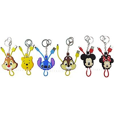 Disney迪士尼Micro USB 立體傳輸線/充電線