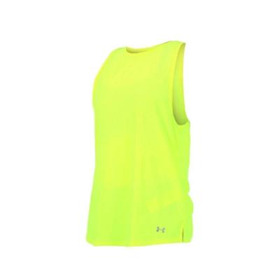 UNDER ARMOUR HG COOLSWITCH 女慢跑背心-路跑 瑜珈 有氧 螢光黃