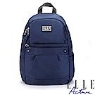 ELLE Active 優雅隨行系列-防盜 後背包-小-深藍色