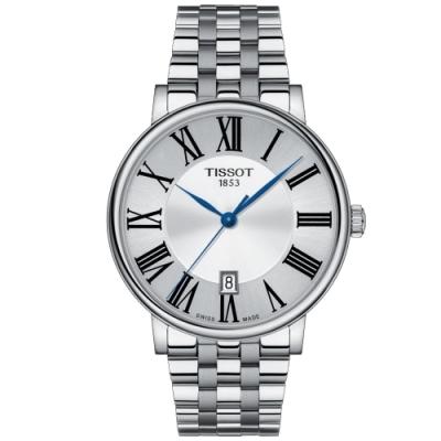 TISSOT天梭 CARSON PREMIUM經典時尚手錶(T1224101103300)