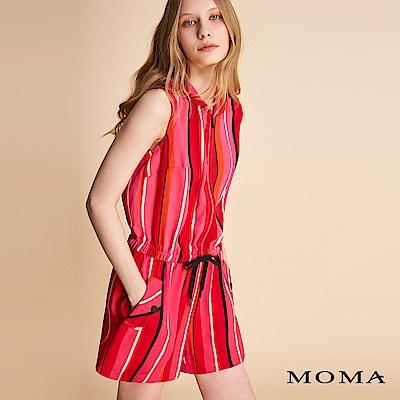 MOMA 彩色直條紋連身短褲