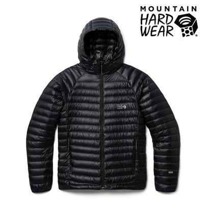 【美國 Mountain Hardwear】Ghost Whisperer UL Jacket Men 超輕量保暖羽絨連帽外套 男款  黑色 #1898881