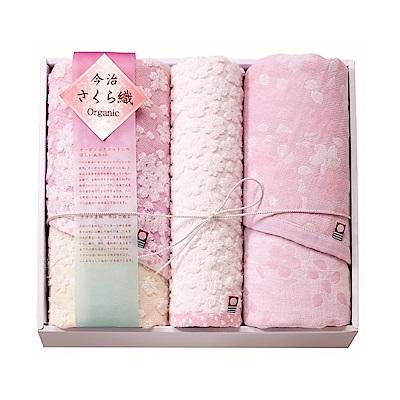日本Prairiedog 今治有機綿櫻花經典禮盒組(方巾x1+毛巾x2)