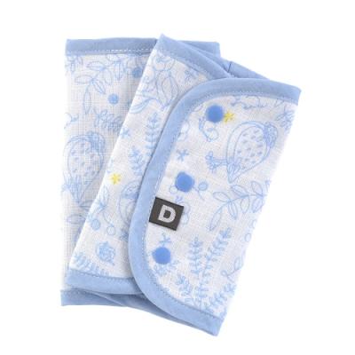 D BY DADWAY_揹帶用口水巾 / 粉藍森林朋友