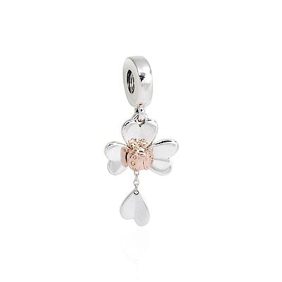 Pandora 潘朵拉 魅力三葉草與瓢蟲 垂墜純銀墜飾