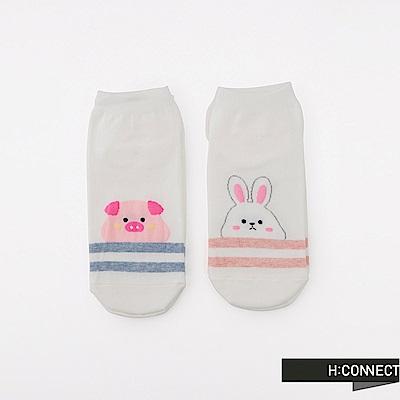 H:CONNECT 韓國品牌 -簡約動物短襪組