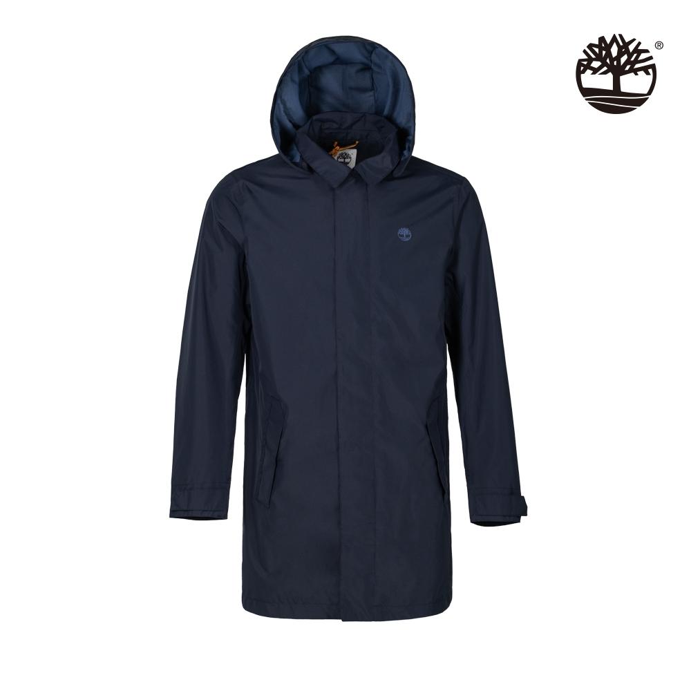 Timberland 男款深寶石藍色連帽防水風衣外套 A24TM