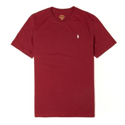Polo Ralph Lauren 經典小馬圓領T恤(青年款)-酒紅色