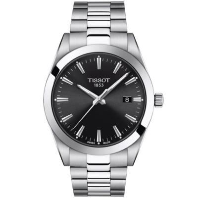 Tissot Gentleman 天梭紳士系列正裝腕錶-41mm 黑