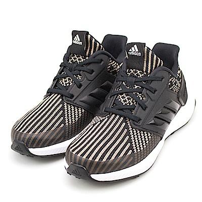 ADIDAS-中童鞋CQ0158-黑米黃