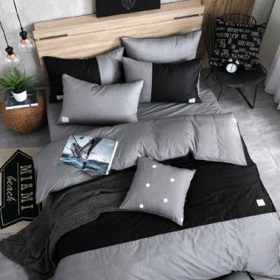 OLIVIA  CHOCOLATE  特大雙人床包美式枕套三件組 200織精梳純棉 台灣製