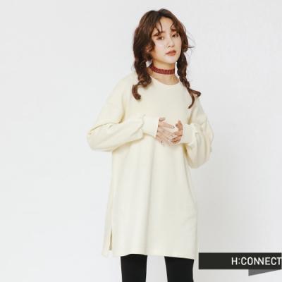H:CONNECT 韓國品牌 女裝 - 後印字舒適感上衣-白(快)