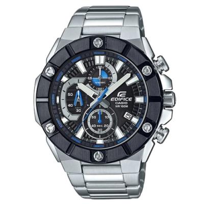 EDIFICE 粗曠六螺絲設計大錶面風格不鏽鋼腕錶-(EFR-569DB-1A)/51mm