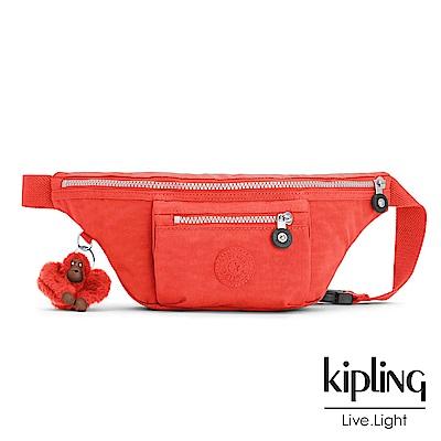 Kipling 腰包 螢光澄素面 -小