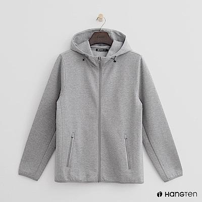 Hang Ten - 男裝 - 抽繩立領連帽外套 - 灰