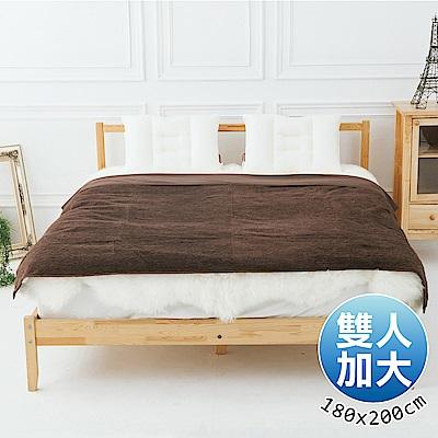 日本藤田 日本發熱吸濕節能兩用毯(咖啡)雙人加大