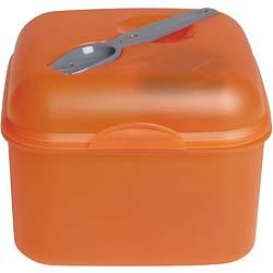 《EXCELSA》沙拉便當盒+餐叉(橘900ml)