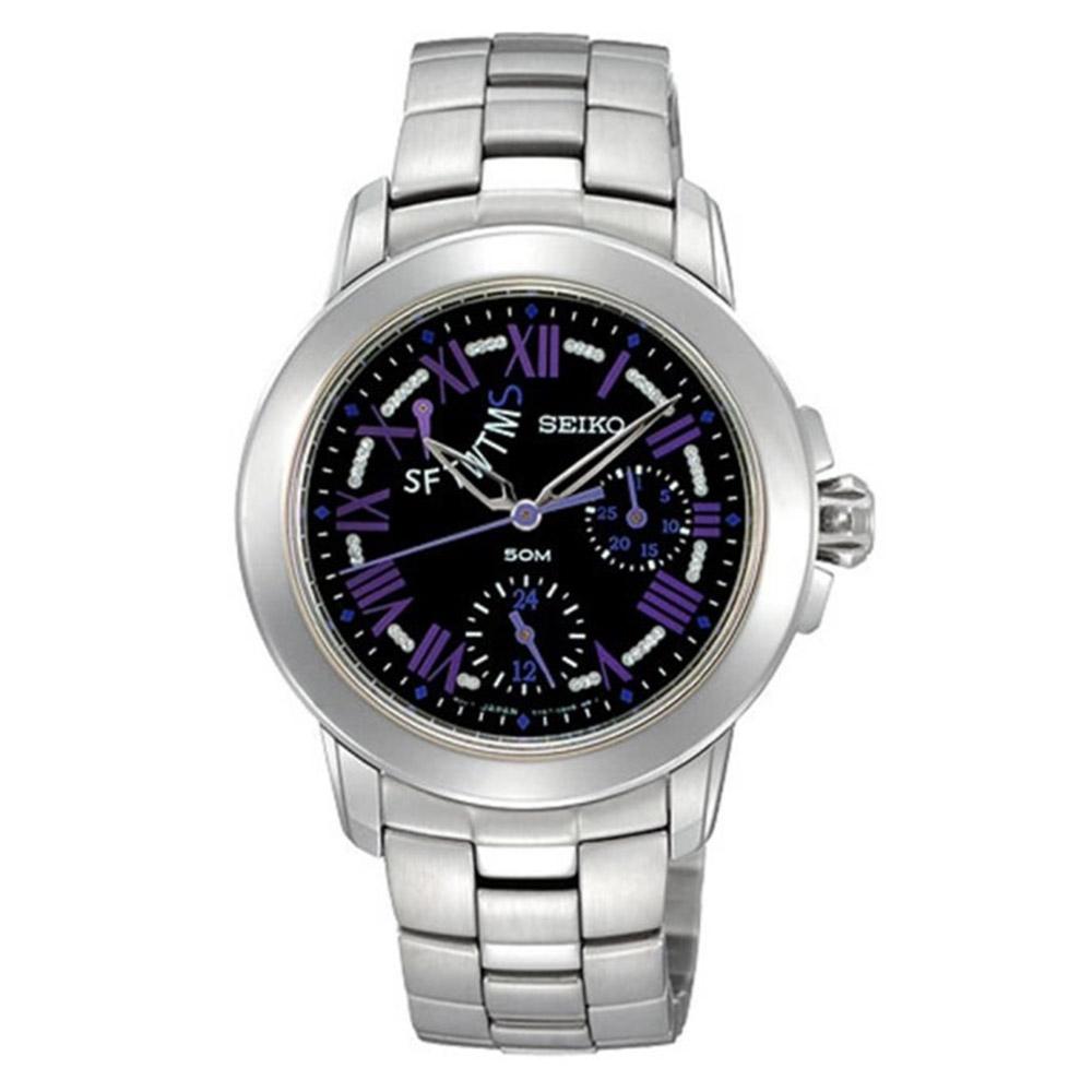 SEIKO 精工 魔力三眼全日曆腕錶-33mm(SPA801P1/5Y67-0AV0D)