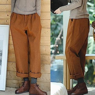 休閒褲-加厚高品質苧麻哈倫-K8924-設計所在
