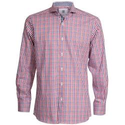 CR7-Slim Fit 紅藍經典格紋襯衫 (8680-7270-076)