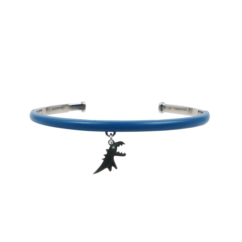 agnes b. - Sport b. 恐龍墜飾C型手環(女)(藍)