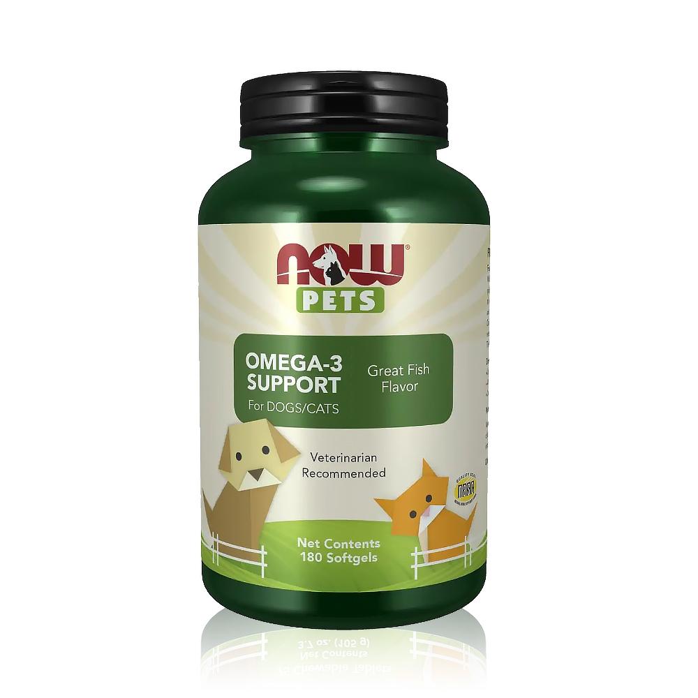 【NOW】寵物OMEGA-3魚油膠囊1瓶(180顆)