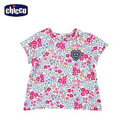 chicco-To Be Baby-短袖上衣-碎花