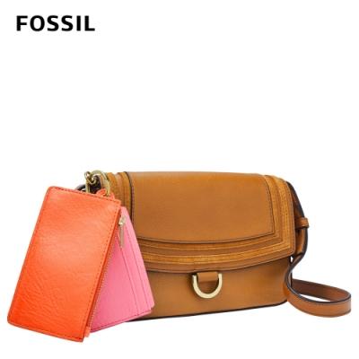 FOSSIL Millie 真皮迷你側背包 - 棕色 SLG1380231 (附卡夾、零錢袋)