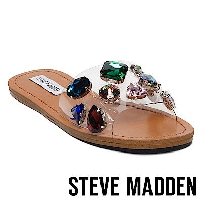 STEVE MADDEN-ROSALYN-寶石鑲嵌一字拖-白色