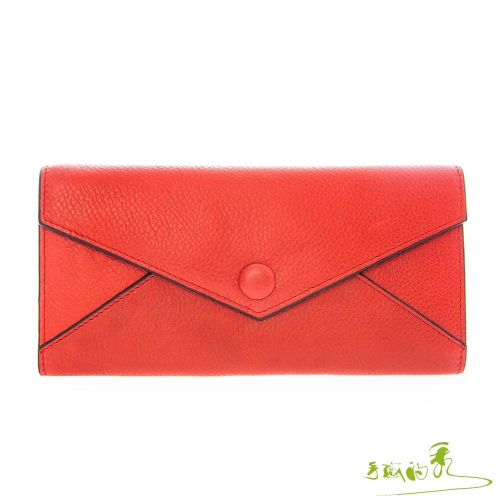 手感的秀 韓小牛皮信封美型多層旺運長夾(5色) product image 1