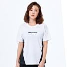 New Balance 撞色修身短袖上衣 AWT93503WT 女性 白色