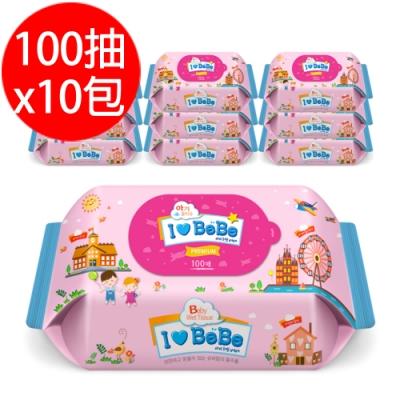 韓國ilovebebe 純水濕紙巾100抽x10包