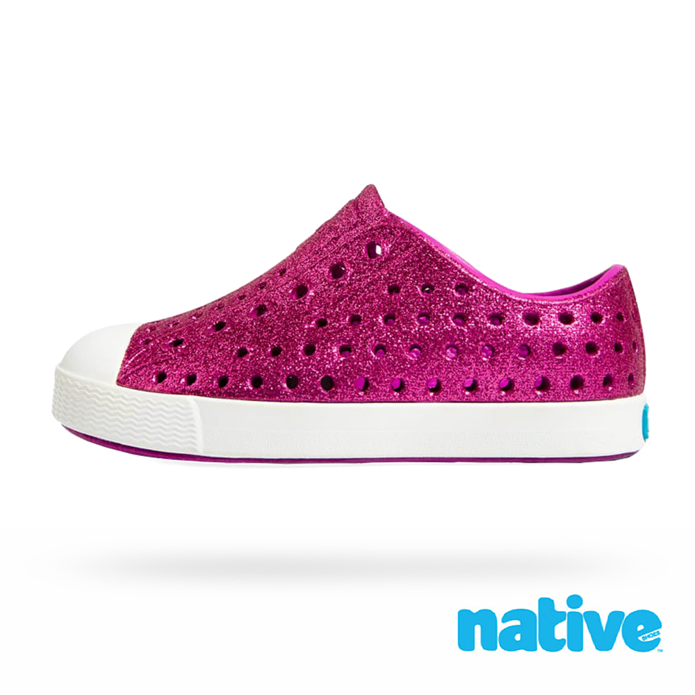 native 大童鞋 JEFFERSON 小奶油頭鞋-星鑽桃x貝殼白