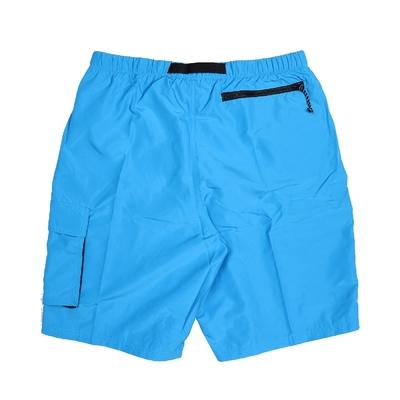 Nike 短褲 Volley Swim Short 海灘褲 男 Belted Packable可收納 快乾 藍白 NESSB521406