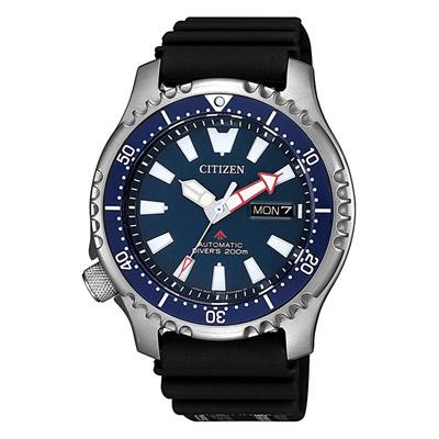 CITIZEN 遨遊天地機械腕錶-藍(NY0081-10L)/42mm
