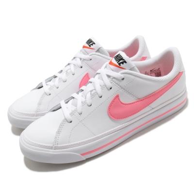 Nike 休閒鞋 Court Legacy 運動 女鞋 基本款 簡約 舒適 皮革 質感 穿搭 白 粉 DA5380103