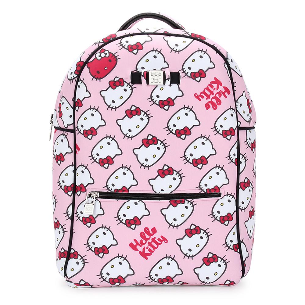 SAVE MY BAG Zaino系列限量Hello Kitty輕量防水後背包-粉紅色