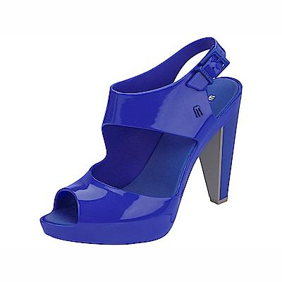 MELISSA 閃亮美形後跟高跟鞋-寶藍