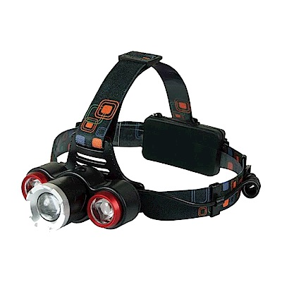 KINYO高亮度LED三頭變焦頭燈LED-715