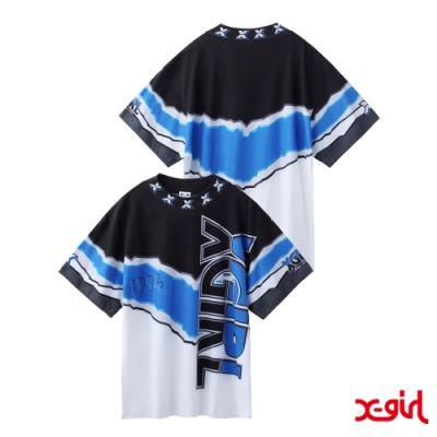 X-girl VIVID THUNDER TEE短袖T恤-黑/藍/白