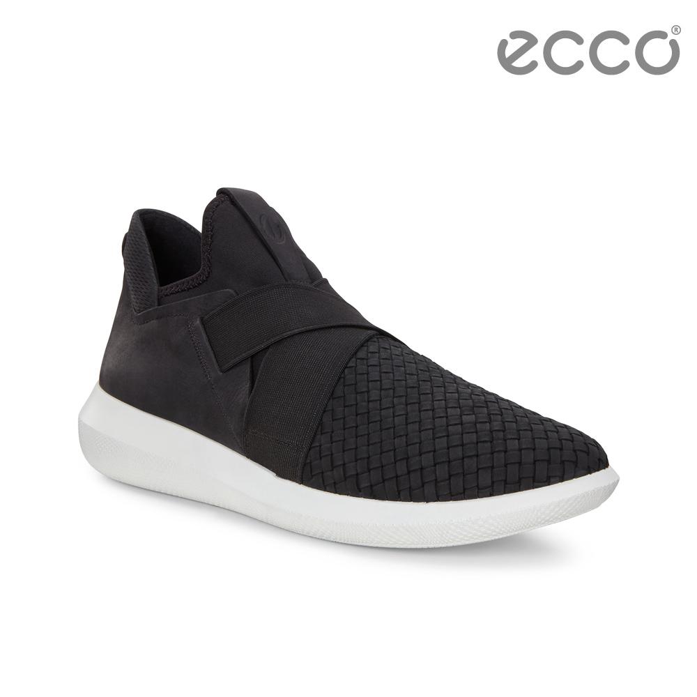 ECCO SCINAPSE M 編織紋套入式休閒運動鞋 男-黑