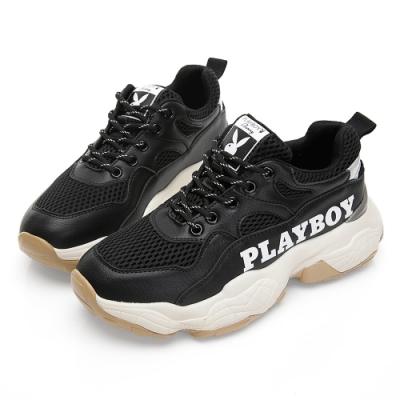 PLAYBOY RetroII 兔兔老爹鞋-黑-Y5725CC