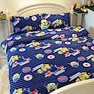 戀家小舖 / 雙人床包兩用毯組  小小兵前進英倫  頂級搖粒絨  台灣製