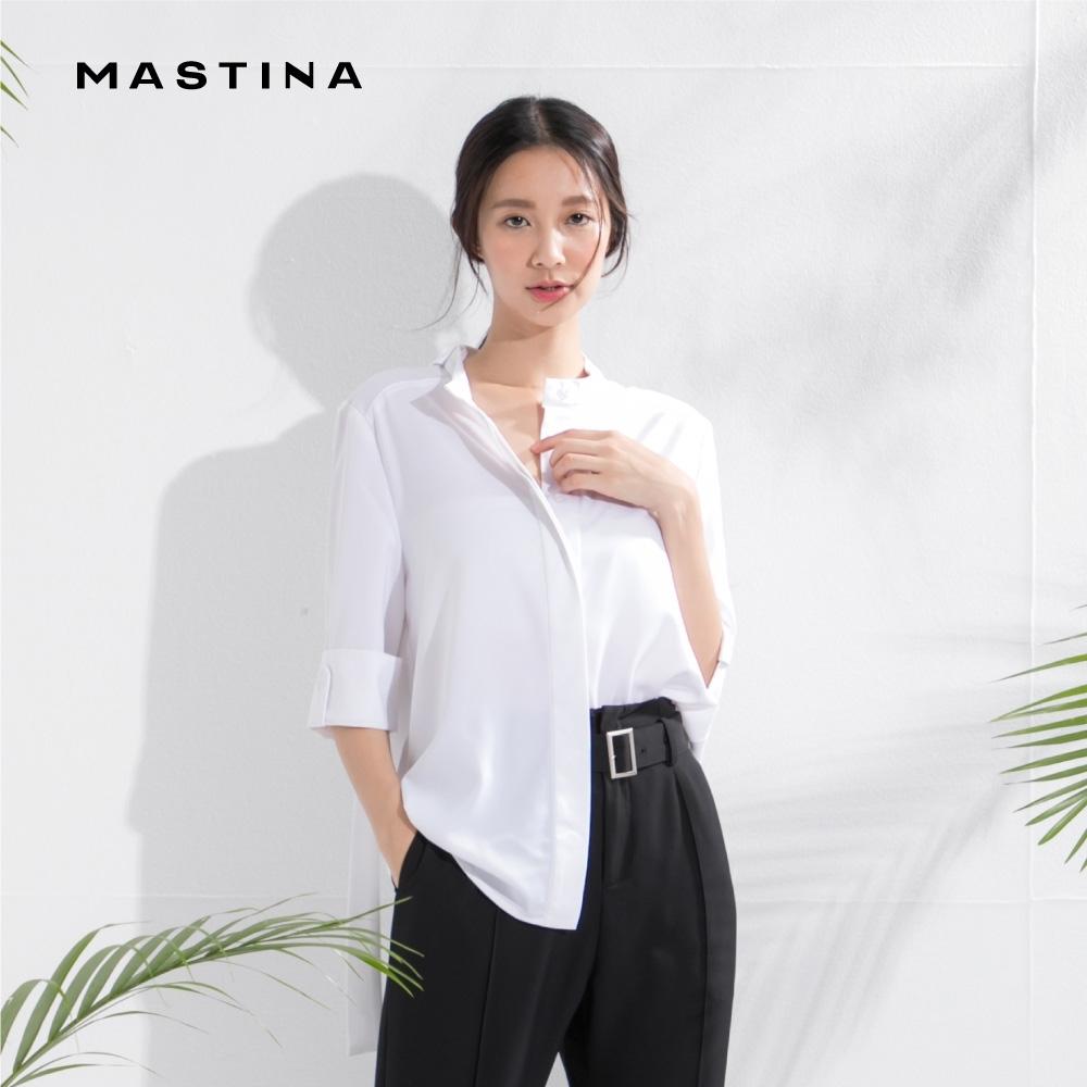 【MASTINA】質感立領修身-襯衫(三色/魅力價格)