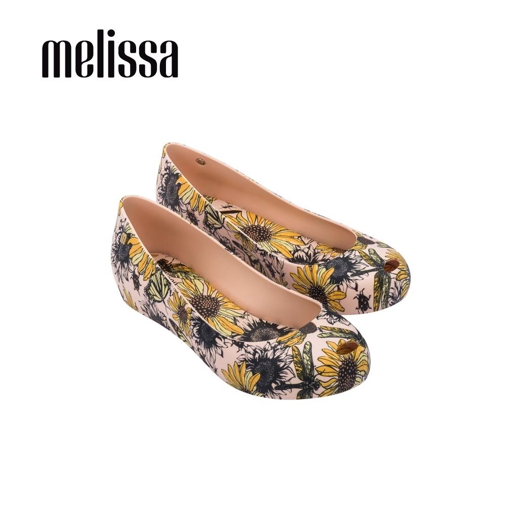 Melissa ULTRAGIRL滿版印花內增高娃魚口娃鞋-雛菊米
