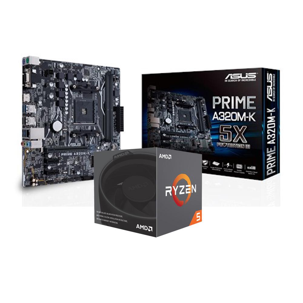 華碩PRIME A320M-K+AMD Ryzen5 2600套餐組